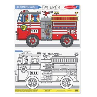 Melissa & Doug Fire Engine Color-A-Mat (Bundle of 6)