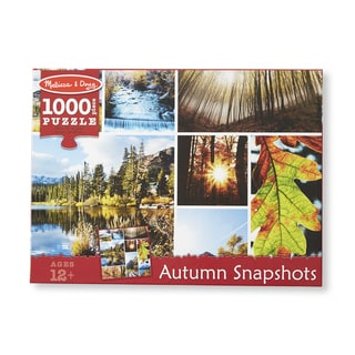 Melissa & Doug 1000 Piece Autumn Snapshots Cardboard Jigsaw