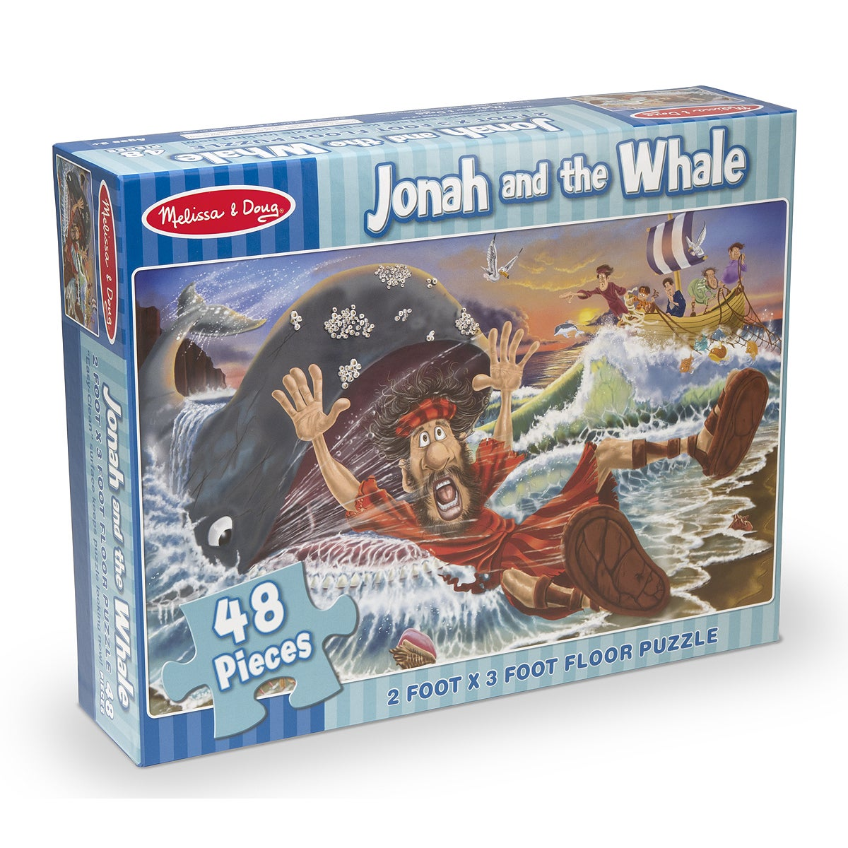 Melissa and Doug Jonah & The Whale Floor Puzzle (Multi)
