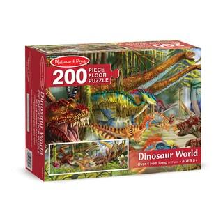 Melissa & Doug Dinosaur World 200 Piece Floor Puzzle