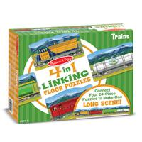 Melissa & Doug Trains Linking 96 Piece Floor Puzzle