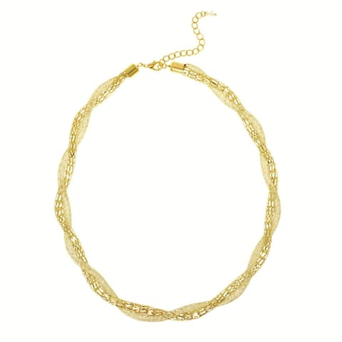 Glass Mesh Twisted Necklace