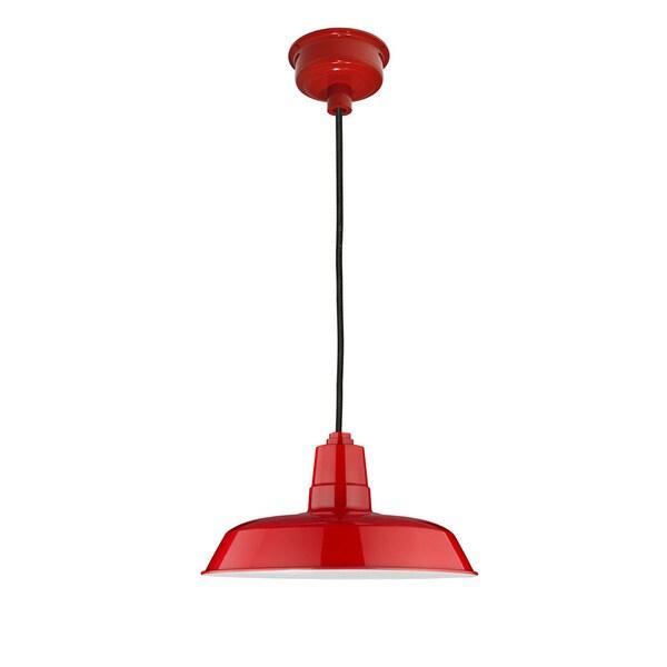 "14"" Oldage LED Pendant Light in Cherry Red"