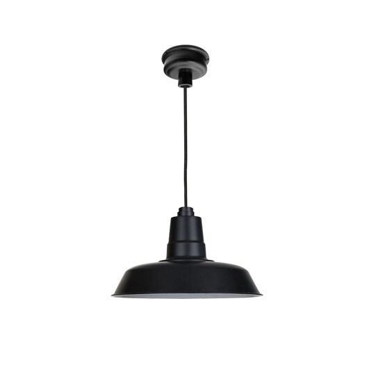 """12"""" Oldage LED Pendant Light in Matte Black"""