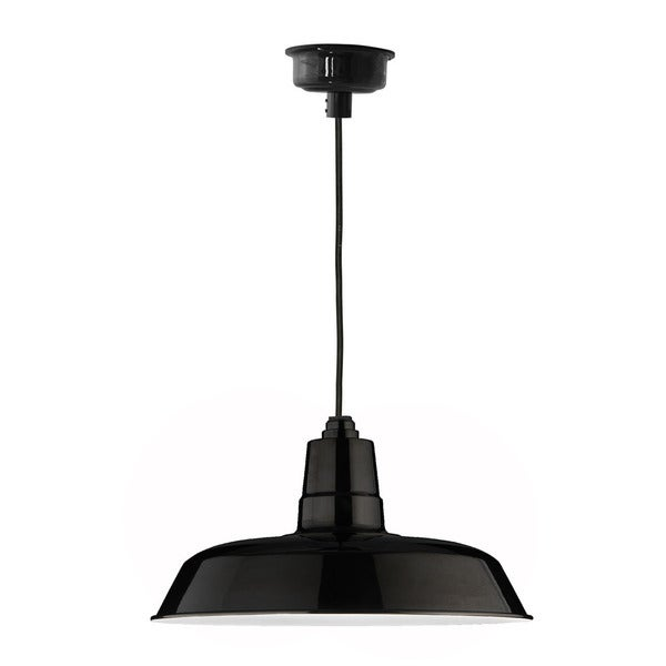 "12"" Oldage LED Pendant Light in Black"