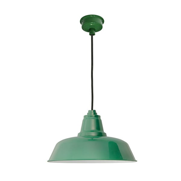 "16"" Goodyear LED Pendant Light in Vintage Green"