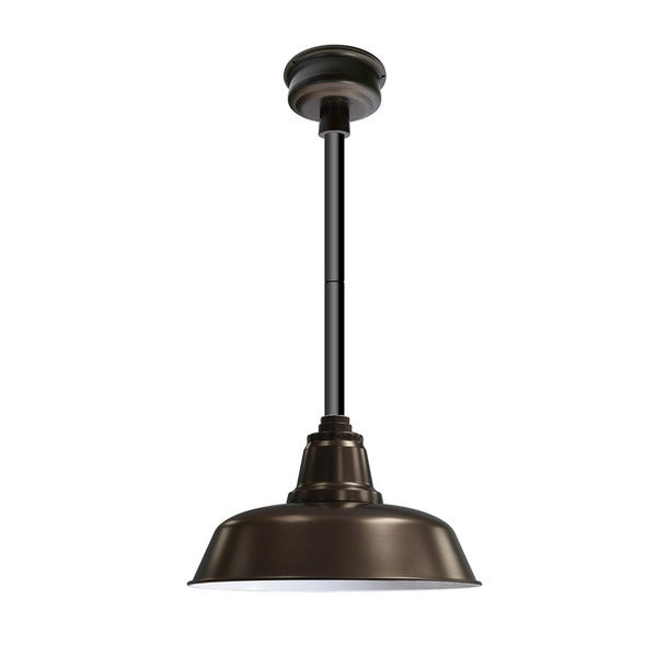 "16"" Goodyear LED Pendant Light in Mahogany Bronze with Black Downrod"