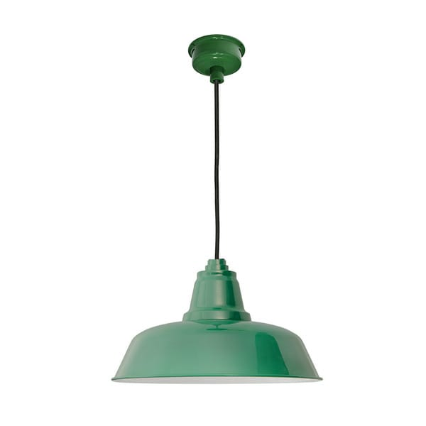 "14"" Goodyear LED Pendant Light in Vintage Green"