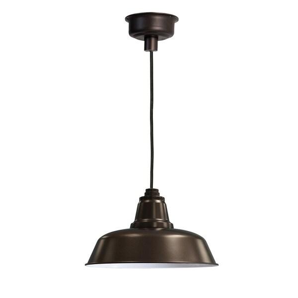 "14"" Goodyear LED Pendant Light in Mahogany Bronze"