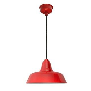 "14"" Goodyear LED Pendant Light in Cherry Red"