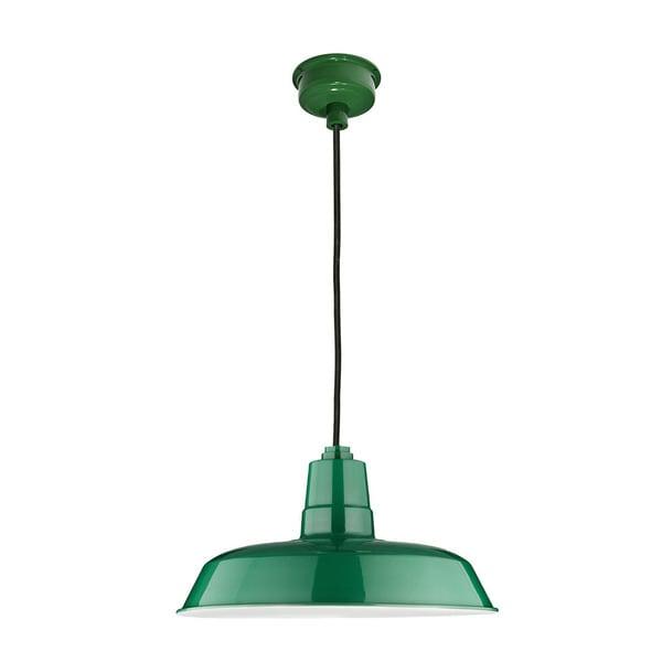 """18"""" Oldage LED Pendant Light in Vintage Green"""