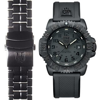 Luminox Men's Navy SEAL Colormark 3051.BO.SET.2, Quartz Movement With Rubber Band and Stainless Steel Band Black Watch|https://ak1.ostkcdn.com/images/products/16641286/P22964540.jpg?_ostk_perf_=percv&impolicy=medium