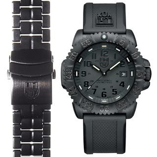 Luminox Men's Navy SEAL Colormark 3051.BO.SET.2, Quartz Movement With Rubber Band and Stainless Steel Band Black Watch|https://ak1.ostkcdn.com/images/products/16641286/P22964540.jpg?impolicy=medium
