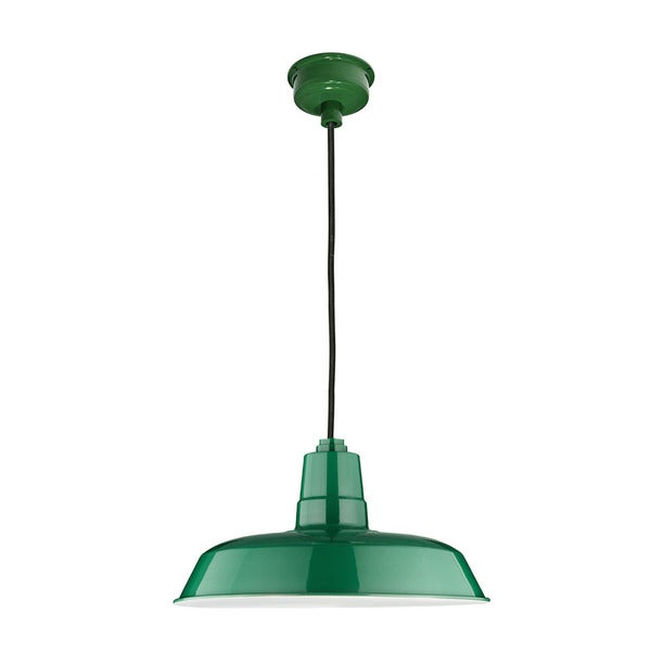"16"" Oldage LED Pendant Light in Vintage Green"