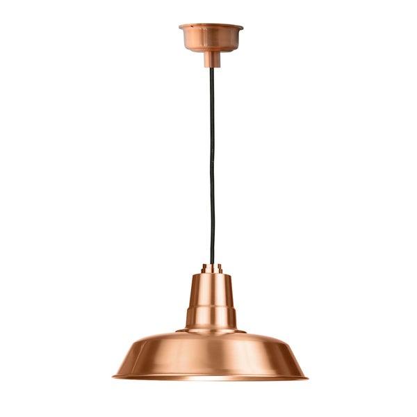 """16"""" Oldage LED Pendant Light in Solid Copper"""