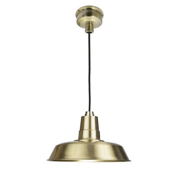 "16"" Oldage LED Pendant Light in Solid Brass"