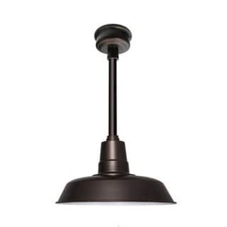 "16"" Oldage LED Pendant Light in Mahogany Bronze with Mahogany Bronze Downrod"
