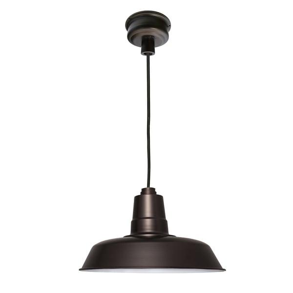 """16"""" Oldage LED Pendant Light in Mahogany Bronze"""