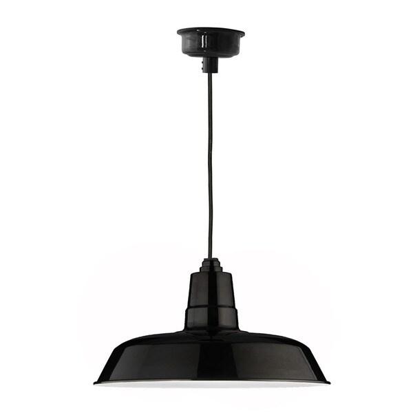 "16"" Oldage LED Pendant Light in Black"