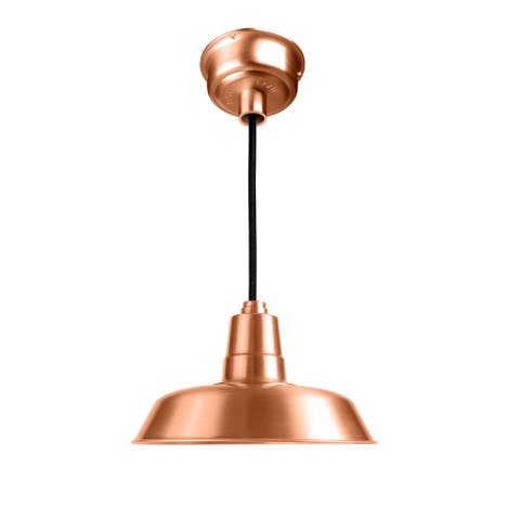 "14"" Oldage LED Pendant Light in Solid Copper"