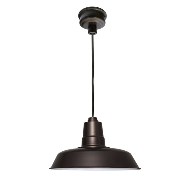 "14"" Oldage LED Pendant Light in Mahogany Bronze"