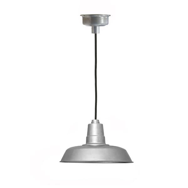 "14"" Oldage LED Pendant Light in Galvanized Silver"