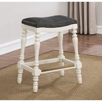 Clarion 25-inch Saddle Seat Counter Stool by Greyson Living