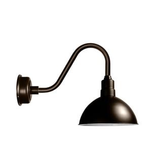 "10"" Blackspot LED Barn Light with Rustic Arm in Mahogany Bronze"