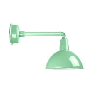 "10"" Blackspot LED Barn Light with Metropolitan Arm in Jade"