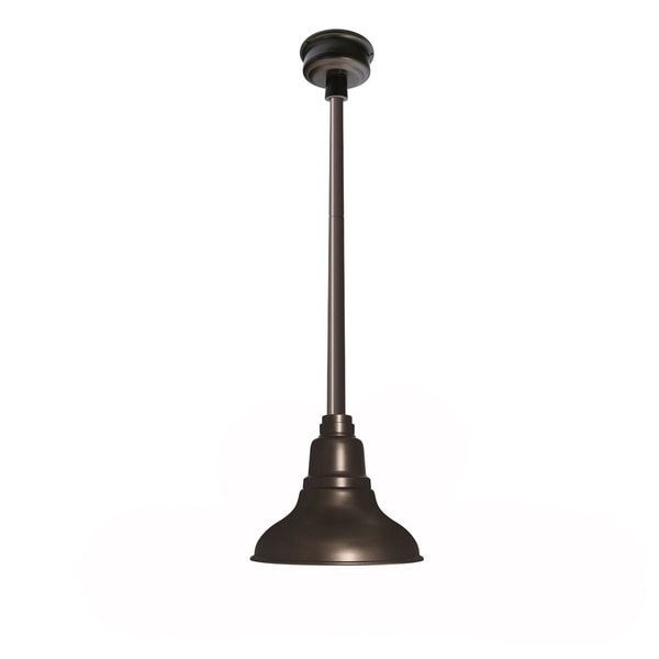 Dahlia Mahogany Bronze Metal LED 8-inch Downward Pendant Barn Light