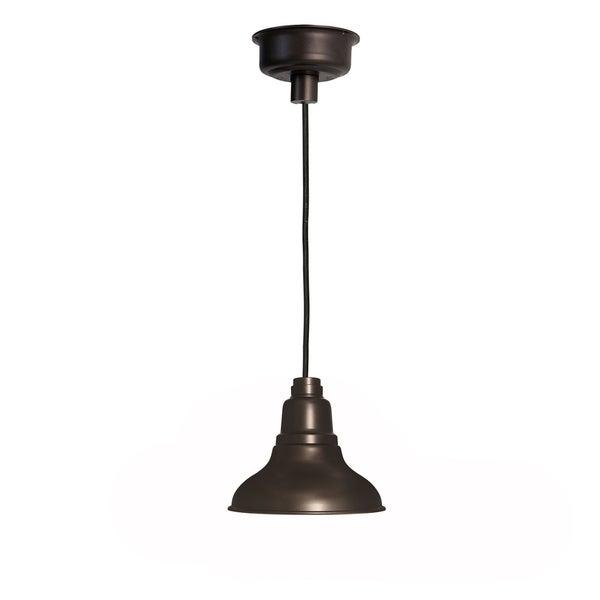 Dahlia Mahogany Bronze Steel 8-inch LED Barn Light