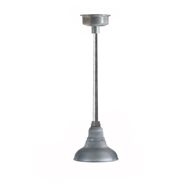 Dahlia Silver Metal LED Pendant Barn Light
