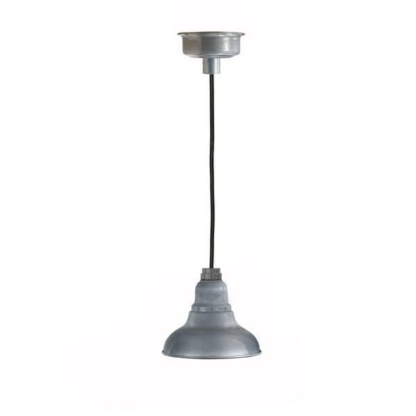 Cocoweb Dahlia Glavanized Silvertone Metal 8inch LED Barn Light