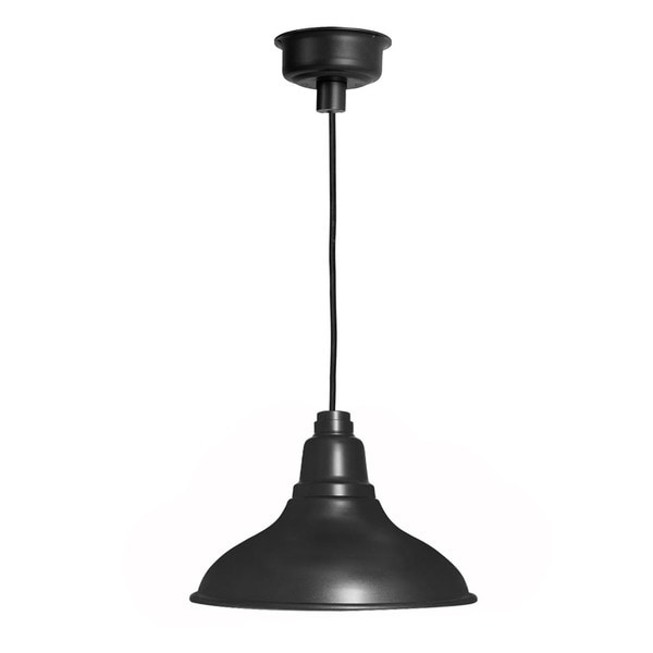 Dahlia Matte Black 8-inch LED Barn Light