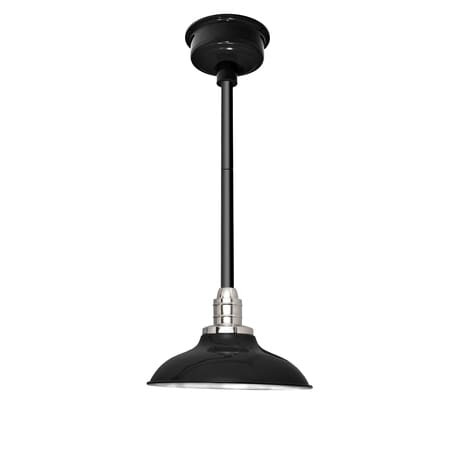 "12"" Peony LED Pendant Light in Black with Black Downrod"