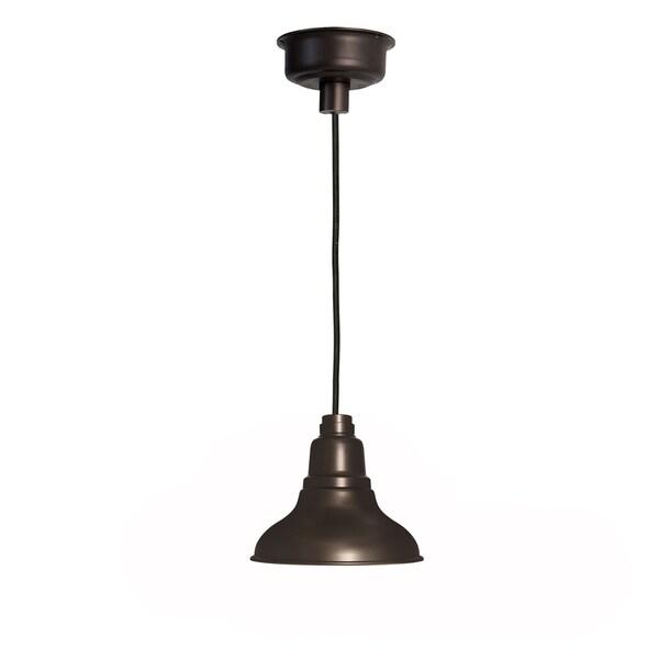 Dahlia Mahogany Bronze Steel 12-inch LED Barn Light