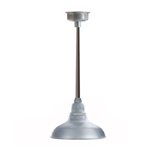 Dahlia Mahogany Bronze Galvanized Silver MetalLED Pendant Barn Light with Downrod