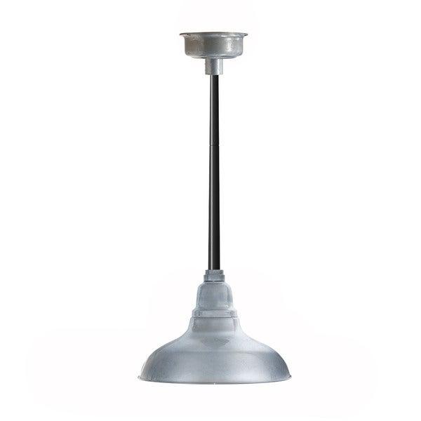 Dahlia Silver Galvanized Steel 12-inch LED Barn Light Pendant