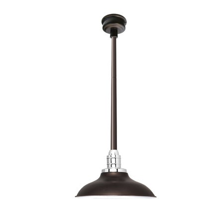 Peony Mahogany Bronze Metal 12-inch LED Downrod Pendant Light