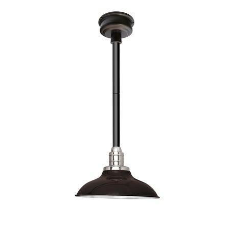 Peony Mahogany Bronze 12-inch LED Pendant Light With Black Downrod