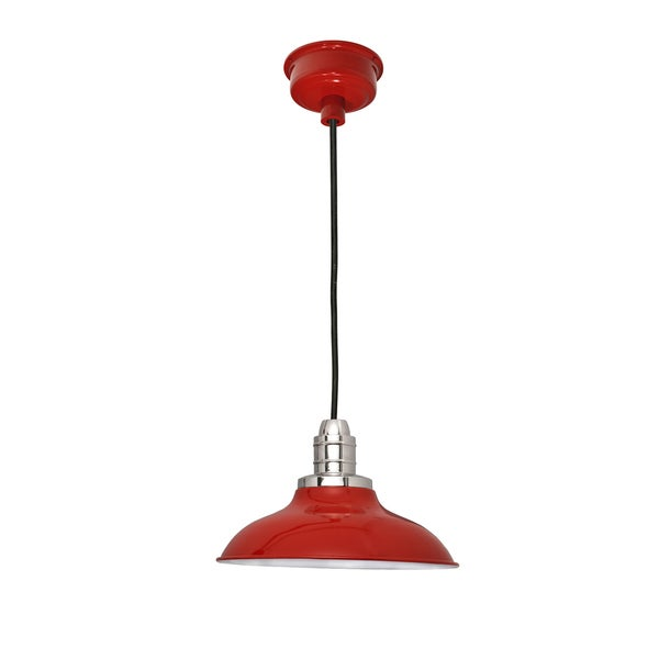 """12"""" Peony LED Pendant Light in Cherry Red"""