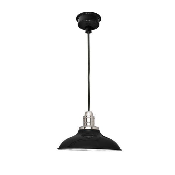 "12"" Peony LED Pendant Light in Black"