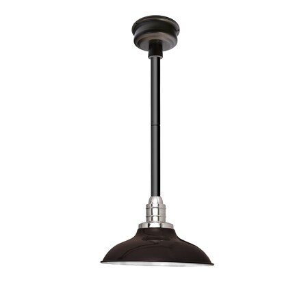 "10"" Peony LED Pendant Light in Mahogany Bronze with Black Downrod"
