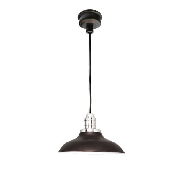 """10"""" Peony LED Pendant Light in Mahogany Bronze"""