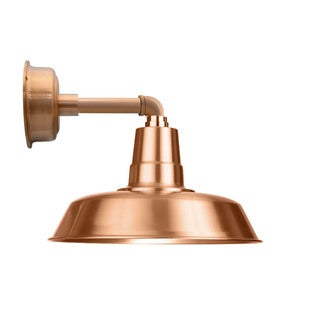 """14"""" Oldage LED Sconce Light with Cosmopolitan Arm in Solid Copper"""