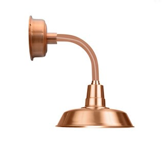 """14"""" Oldage LED Sconce Light with Trim Arm in Solid Copper"""