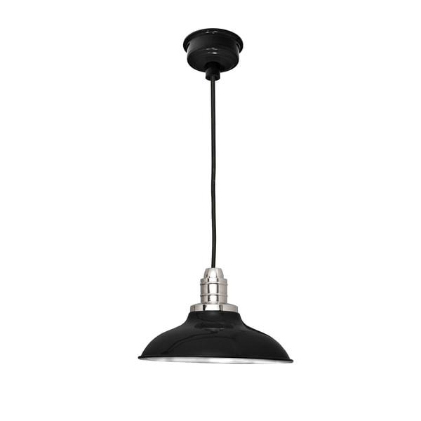 "10"" Peony LED Pendant Light in Black"