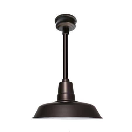 "22"" Oldage LED Pendant Light in Mahogany Bronze with Mahogany Bronze Downrod"