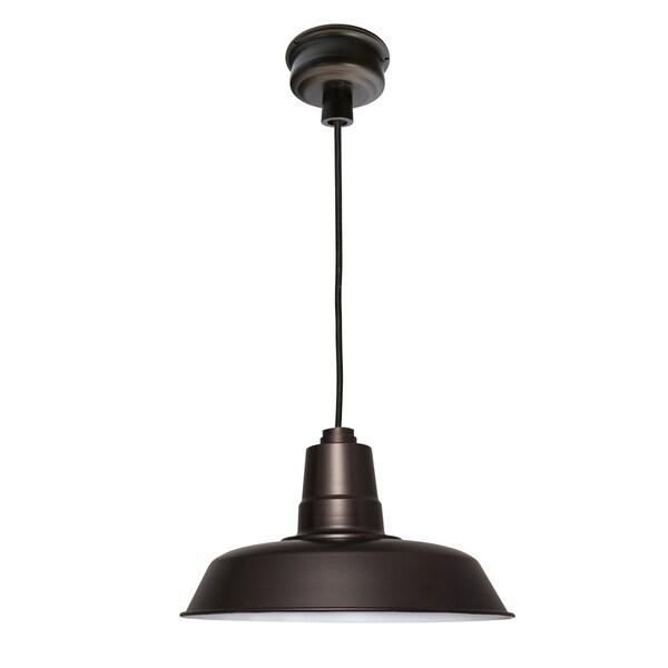 """22"""" Oldage LED Pendant Light in Mahogany Bronze"""