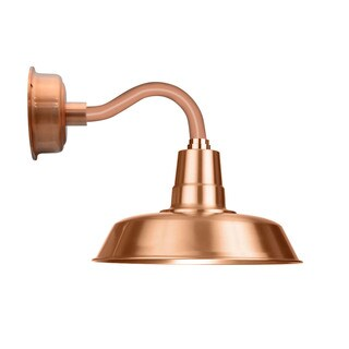 """12"""" Oldage LED Sconce Light with Chic Arm in Solid Copper"""